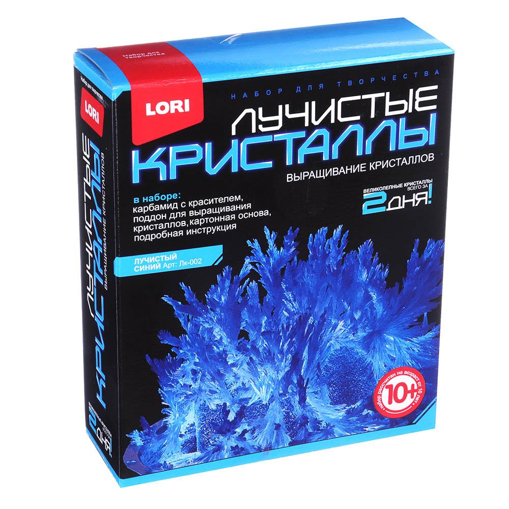 ЛОРИ Набор для выращивания кристаллов, хим.реактивы, 13,5х11,3х4см, 10+, 8 цветов