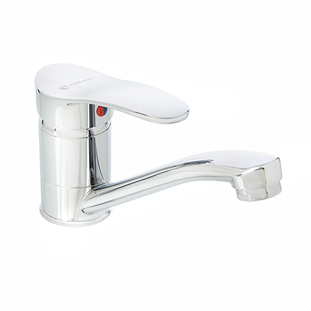 FRESSO Смеситель SH360 для кухни, кор.излив, керам. картридж 40 мм, шпилька, хром D