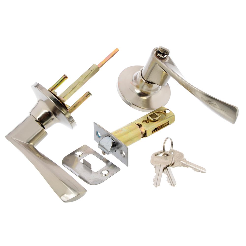 LARS Замок 0762-01 матовый хром с ключом