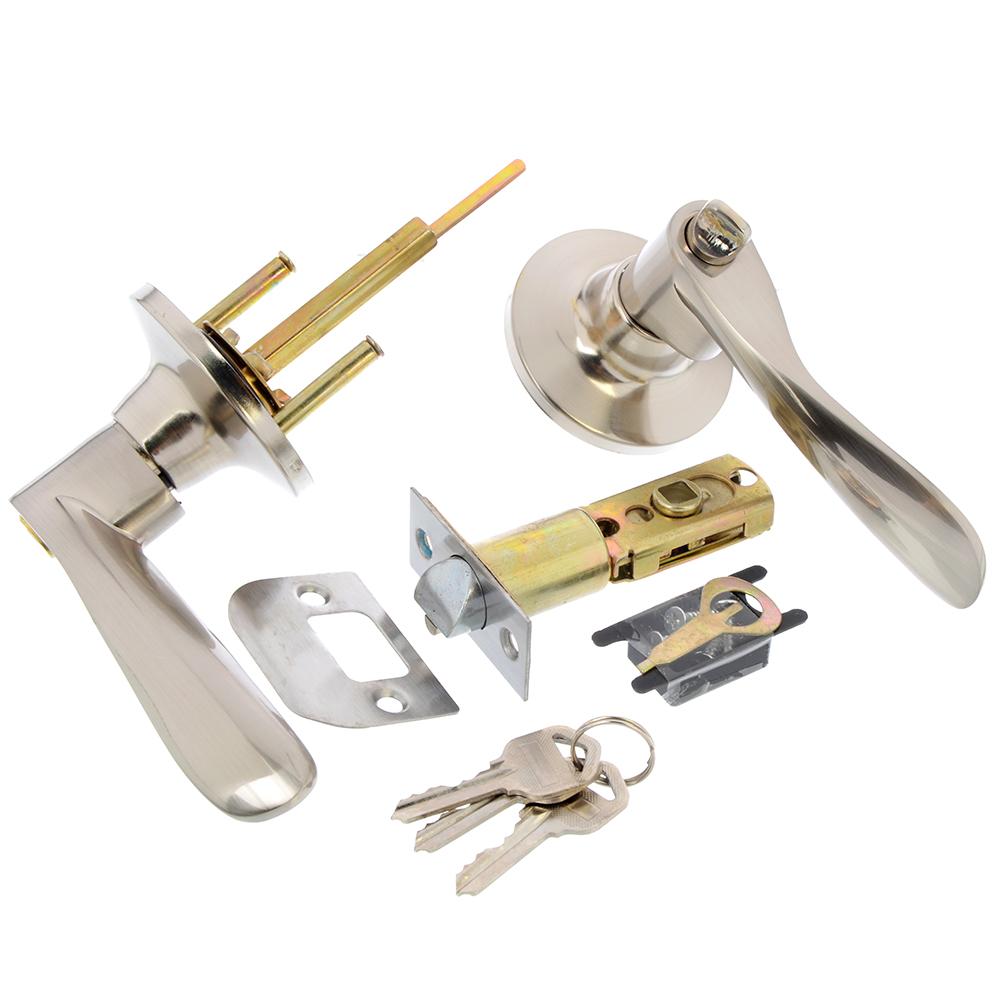 LARS Замок 0763-01 матовый хром с ключом