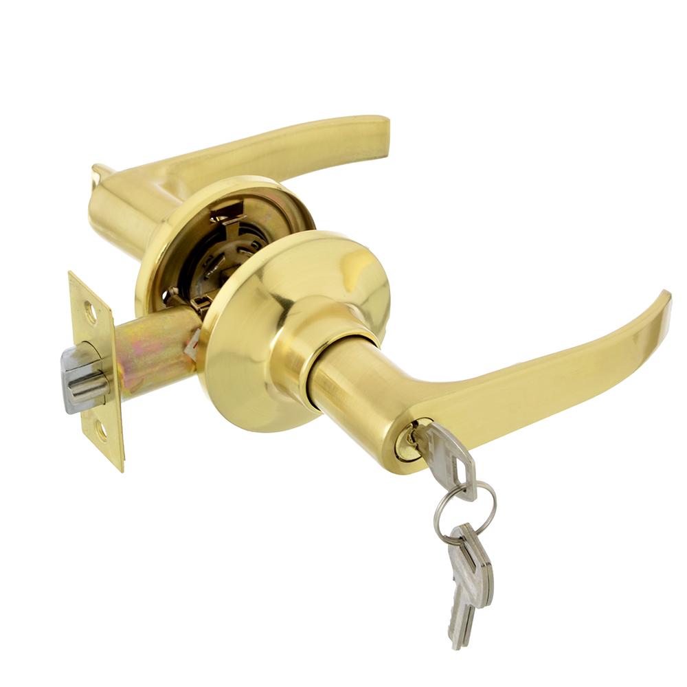 LARS Замок 3182-01 матовое золото c ключом