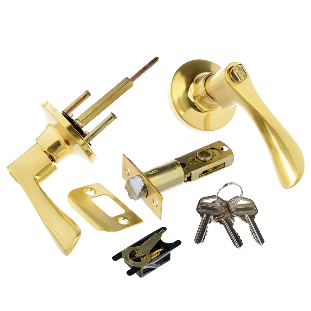 LARS Замок 3201-01 матовое золото c ключом