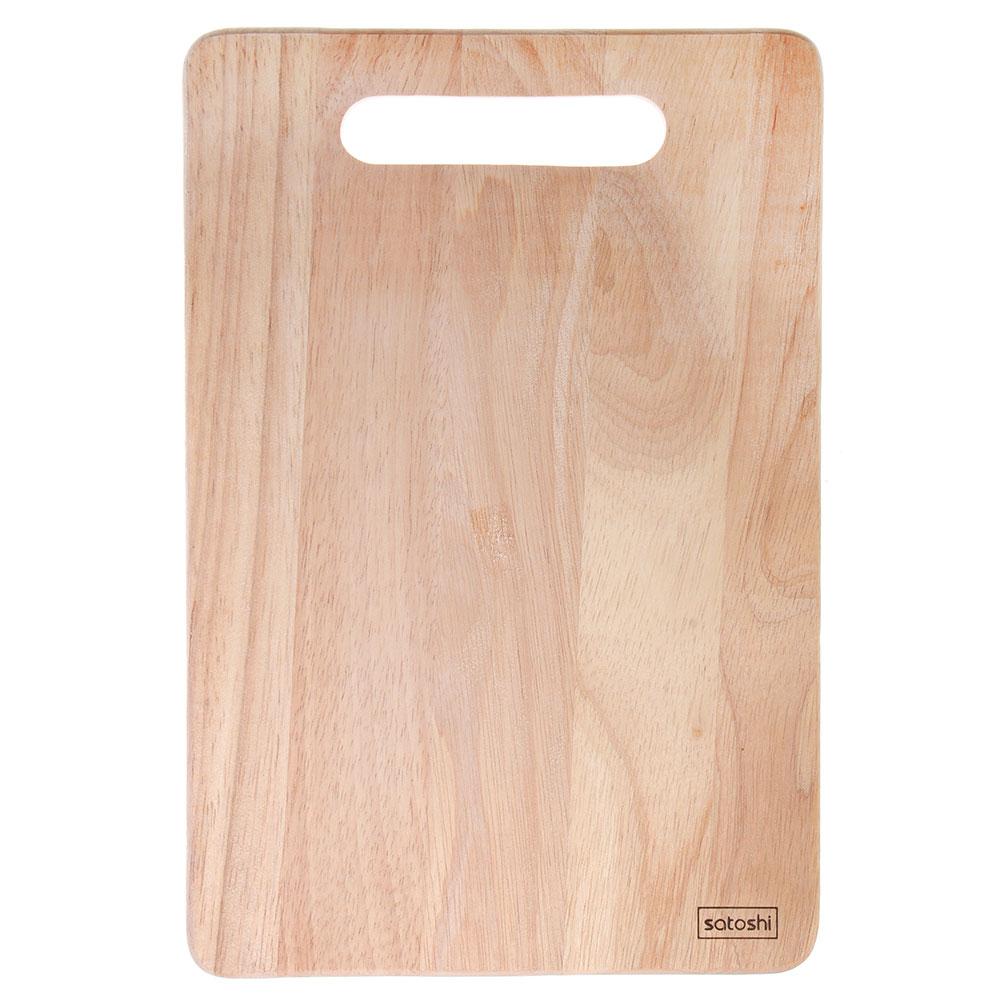 Доска разделочная деревянная SATOSHI, гевея, 30х20х1 см