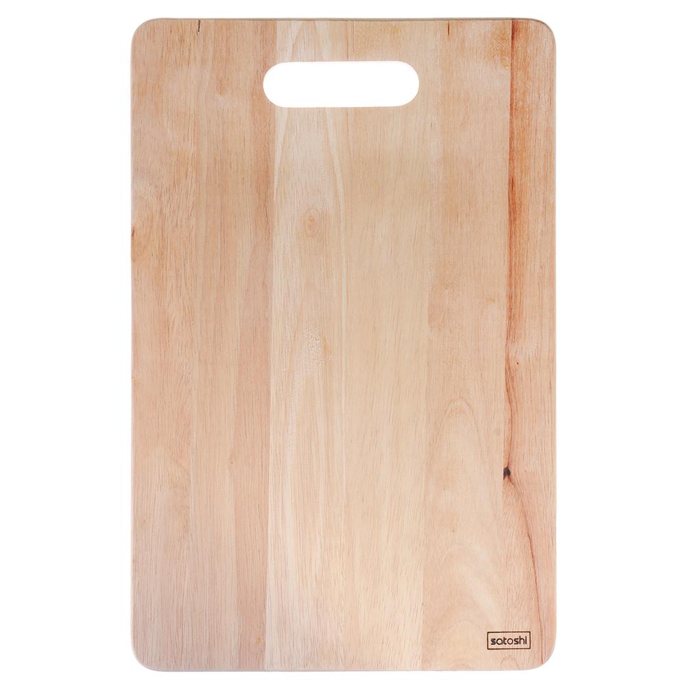 Доска разделочная деревянная SATOSHI, гевея, 38x25x1 см
