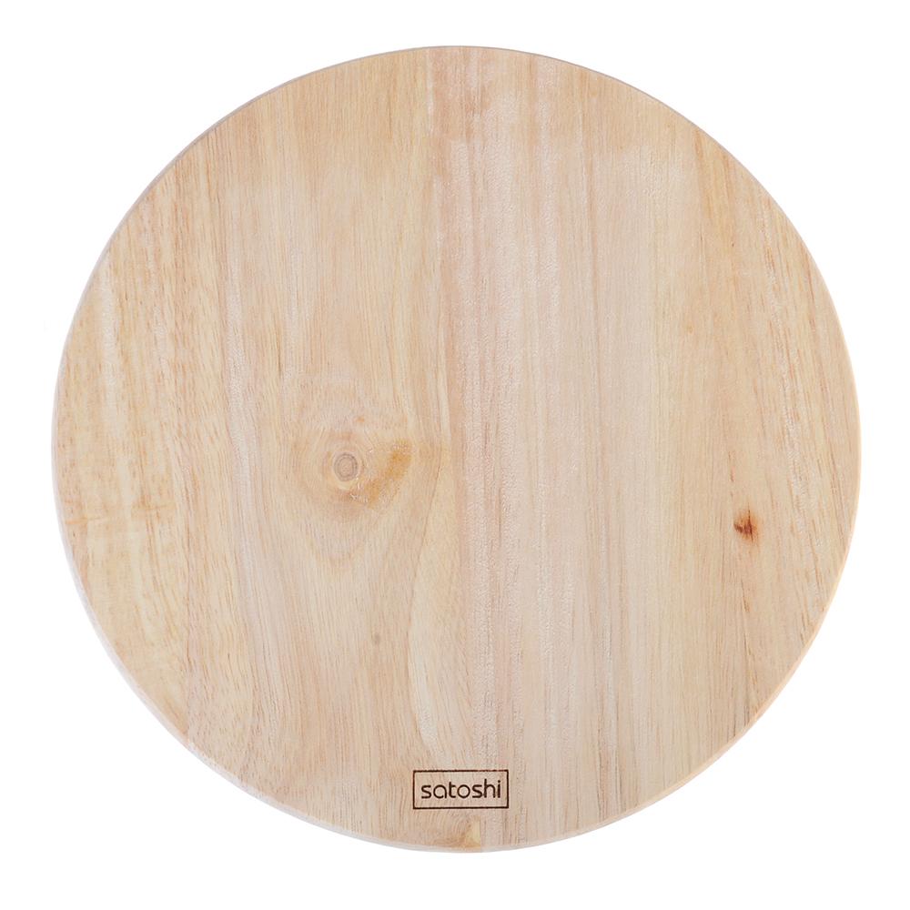 Доска разделочная деревянная SATOSHI, гевея, круглая d.22