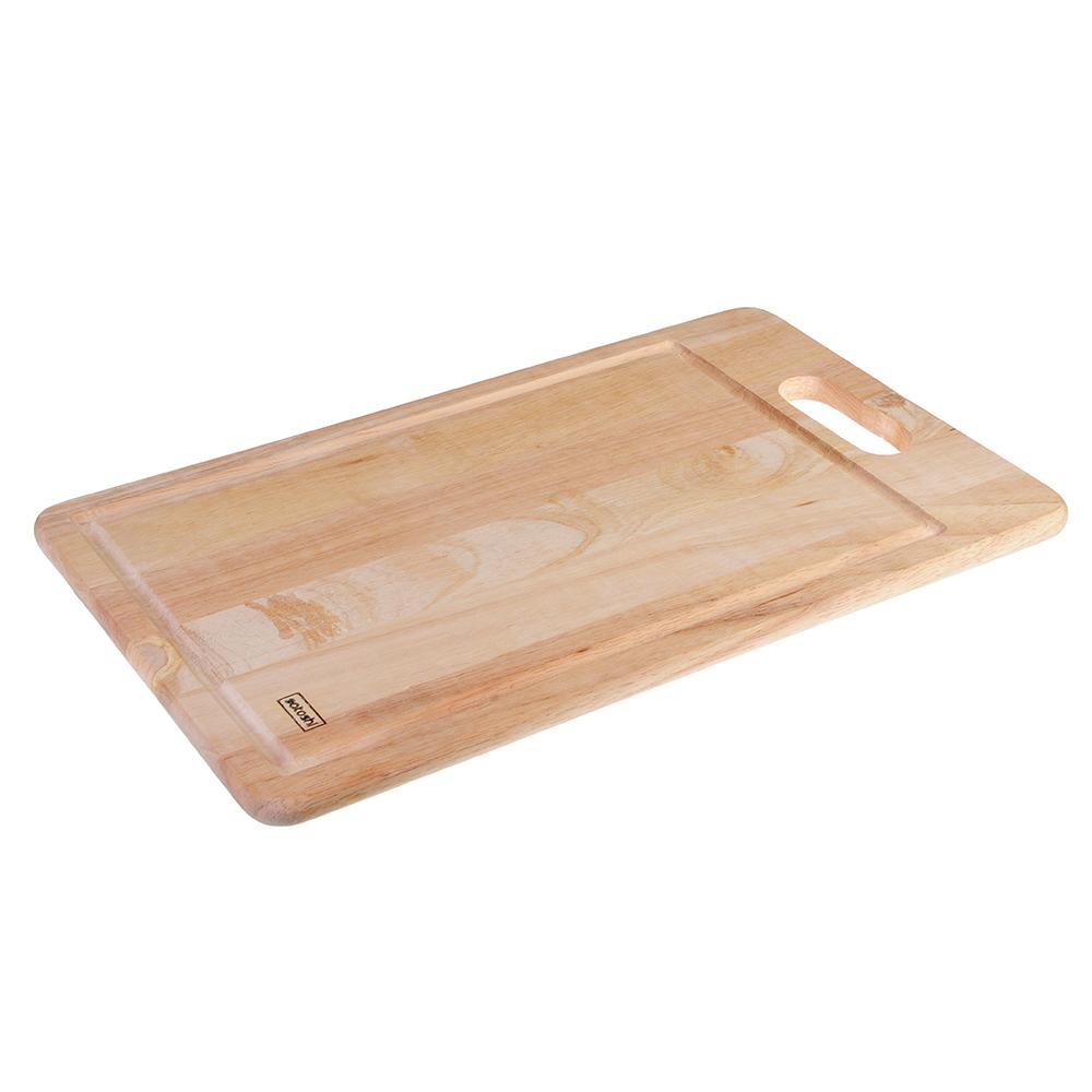 Доска разделочная деревянная SATOSHI, гевея, 43х26х1,5 см