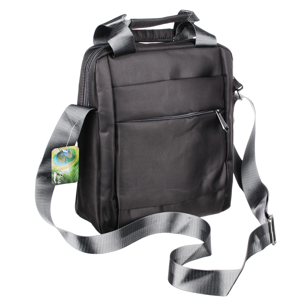 PAVO Сумка мужская с отд.для планшета, нейлон, металл, 27х24х9см, 2 цвета, СК18-4
