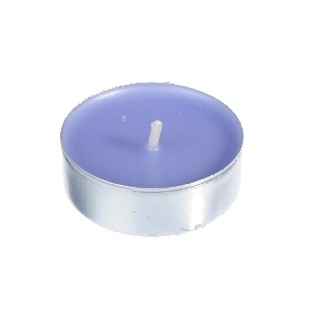 LADECOR Набор свечей чайных 6шт, парафин, аромат лаванда, арт.30769