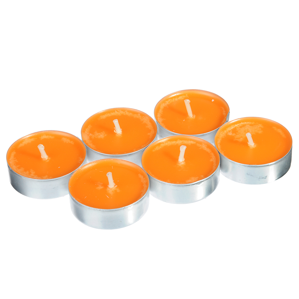 LA DECOR Набор свечей чайных 6шт, парафин, аромат апельсин-бергамот, арт.36891