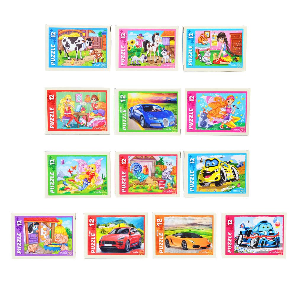 РЫЖИЙ КОТ Пазлы 12 деталей микс, картон, 17,5х13см, 16 дизайнов, П-12-5640