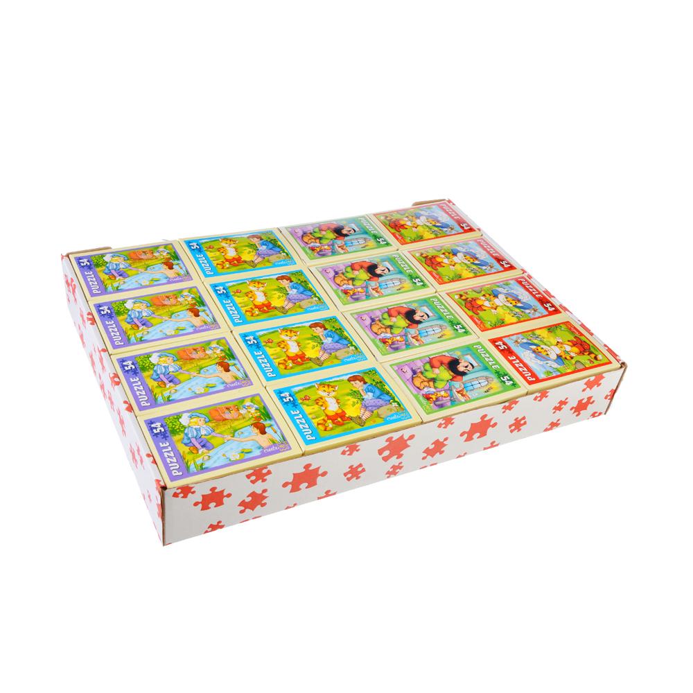 РЫЖИЙ КОТ Пазлы 54 детали микс, картон, 17,5х13см, 32 дизайна, П-54-3662