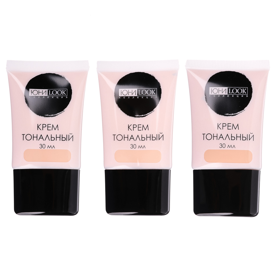 Крем тональный ЮниLook, тон 01 светлый, 30 мл