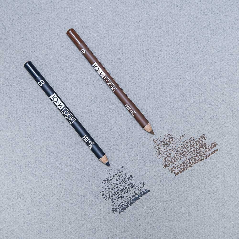 Карандаш для бровей тон 02 коричневый, 1,3 гр, ЮниLook КБ-19