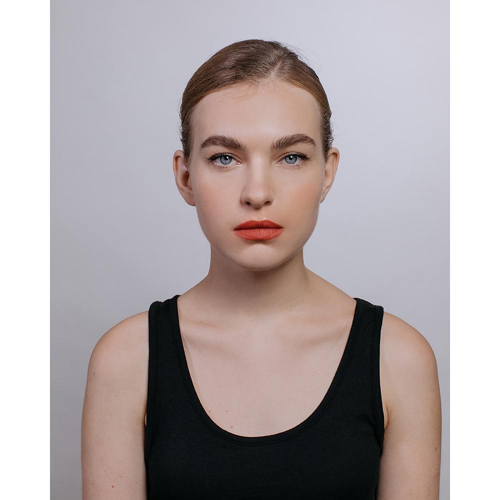 Карандаш для макияжа двойной с точилкой, тон 02 черный/красный, 1гх2, ЮниLook К-19
