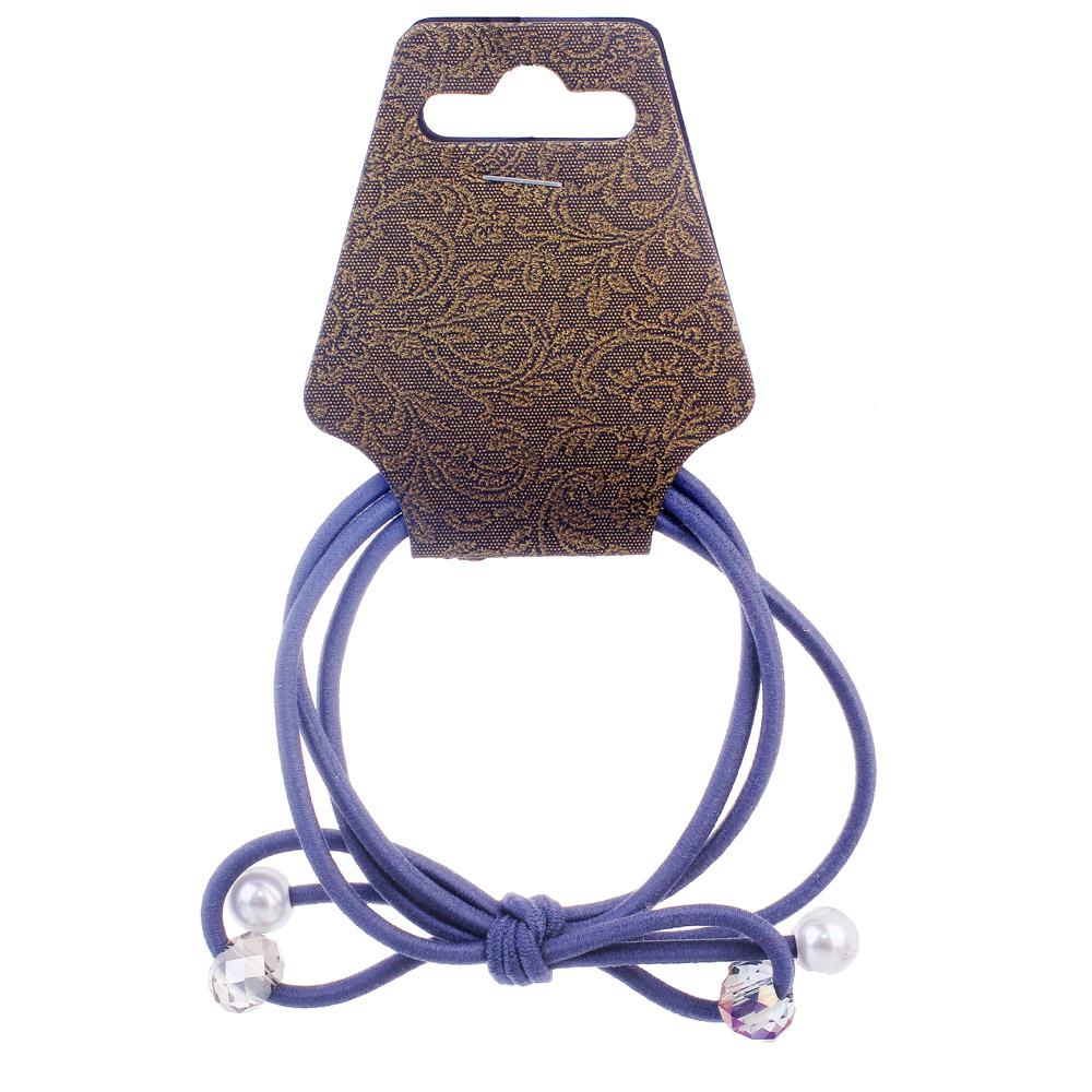 Резинка для волос с декором, полиэстер, пластик, d5,5 см, 6 цветов