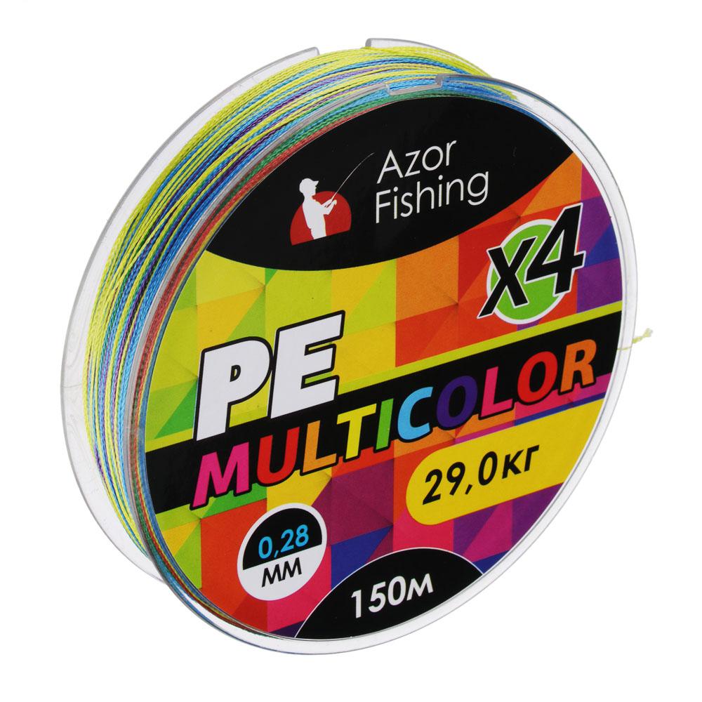 Леска плетеная PE Премиум Троллинг 4 нити, 0,28мм, 200м