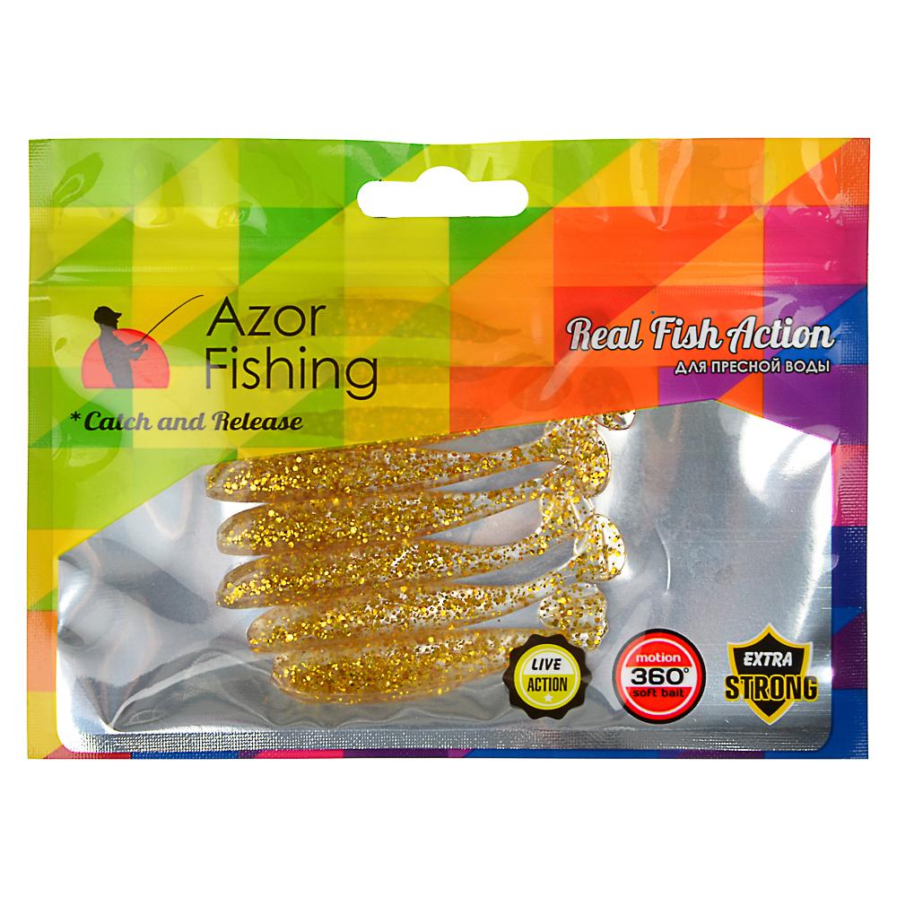 Приманка мягкая AZOR FISHING Виброхвост 2.8, силикон Премиум, 70 мм, 8 шт., микс цветов