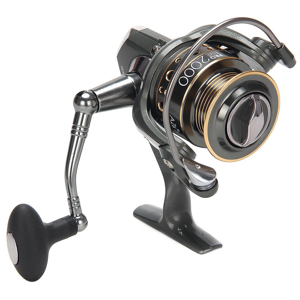 AZOR  FISHING Катушка безынерционная ПРО 5, 2000, 5+1 п.п, передний фрикцион, металл шпуля