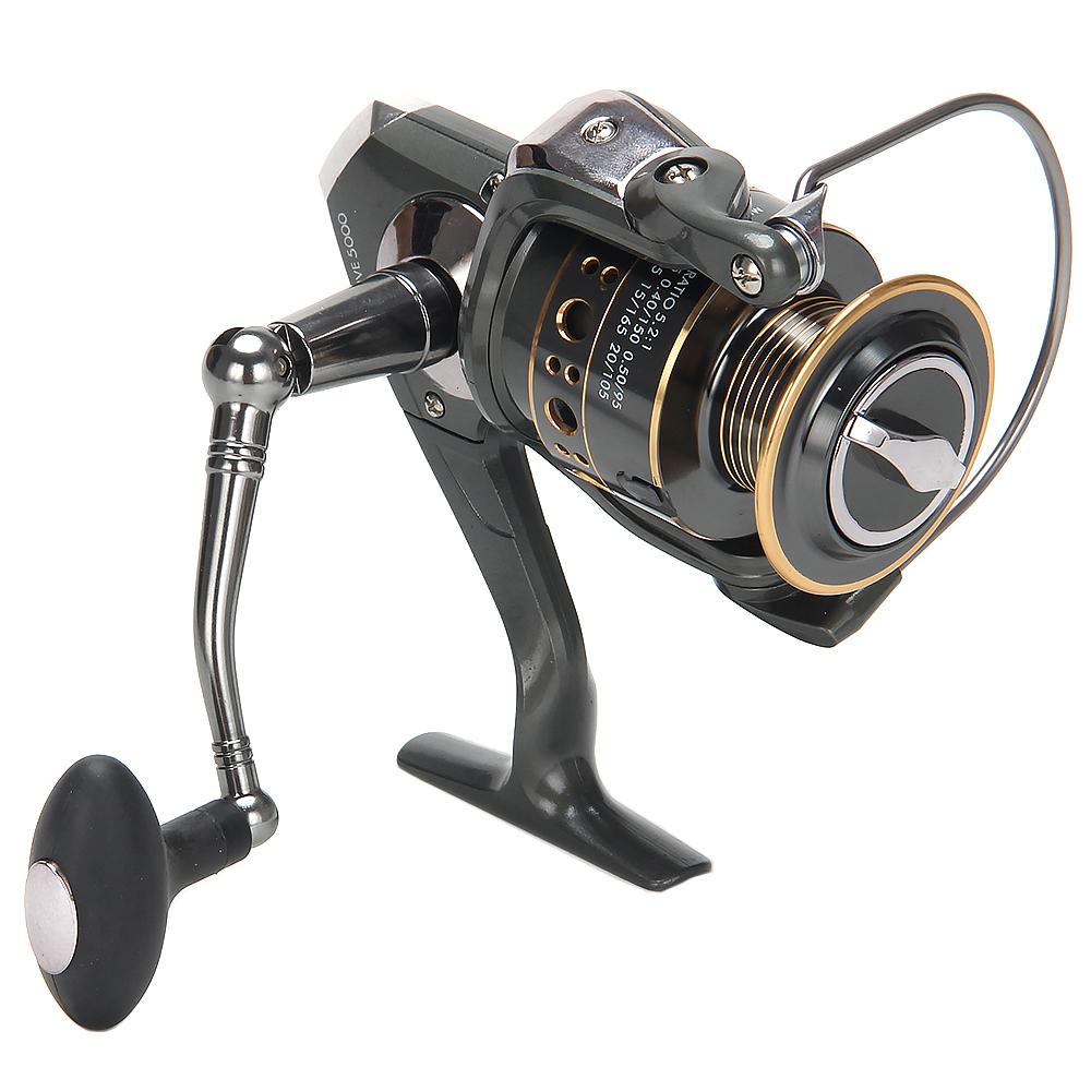AZOR  FISHING Катушка безынерционная ПРО 5, 5000, 5+1 п.п, передний фрикцион, металл шпуля