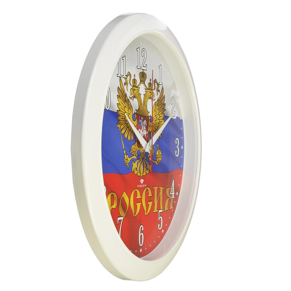 "Часы настенные круг, пластик, d29см, белый, ""Россия"""