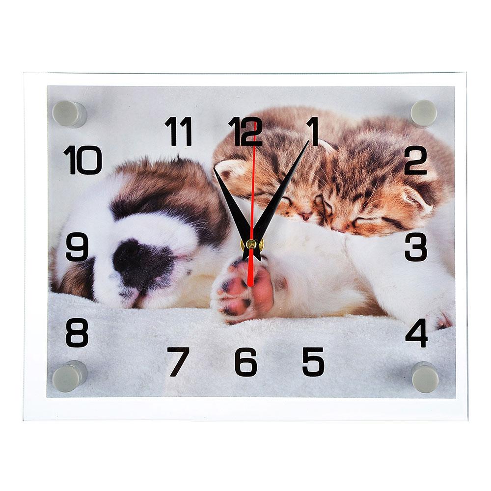 """Часы настенные, стекло, 25х20см, """"Сладкие сны"""""""