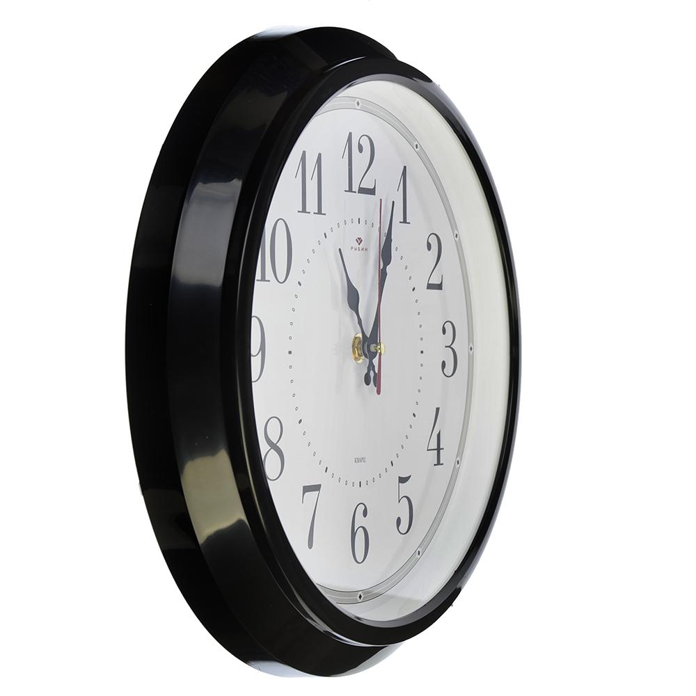 """Часы настенные круглые, пластик, d30см, черный """"Классика"""""""