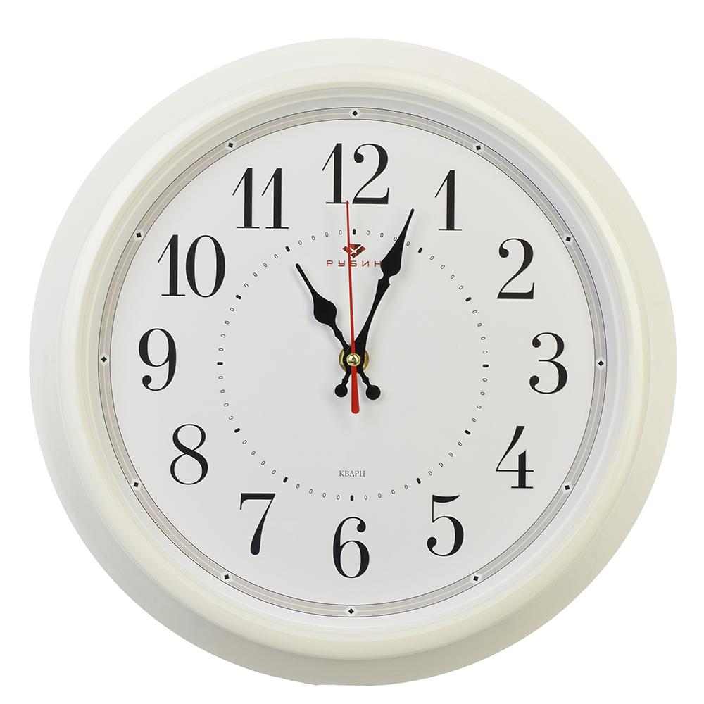 """Часы настенные круглые, пластик, d30см, белый, """"Классика"""""""