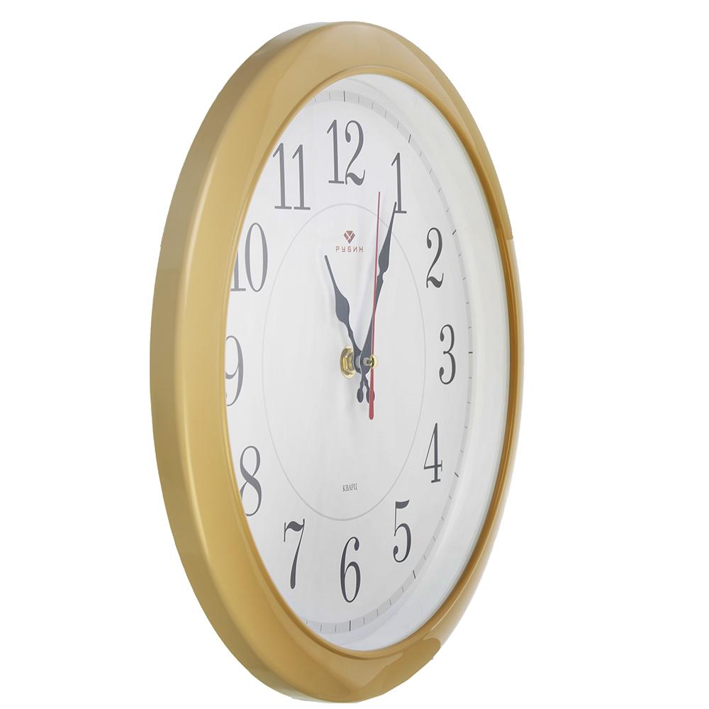 """Часы настенные круглые, пластик, d29см, бежевый, """"Классика"""""""