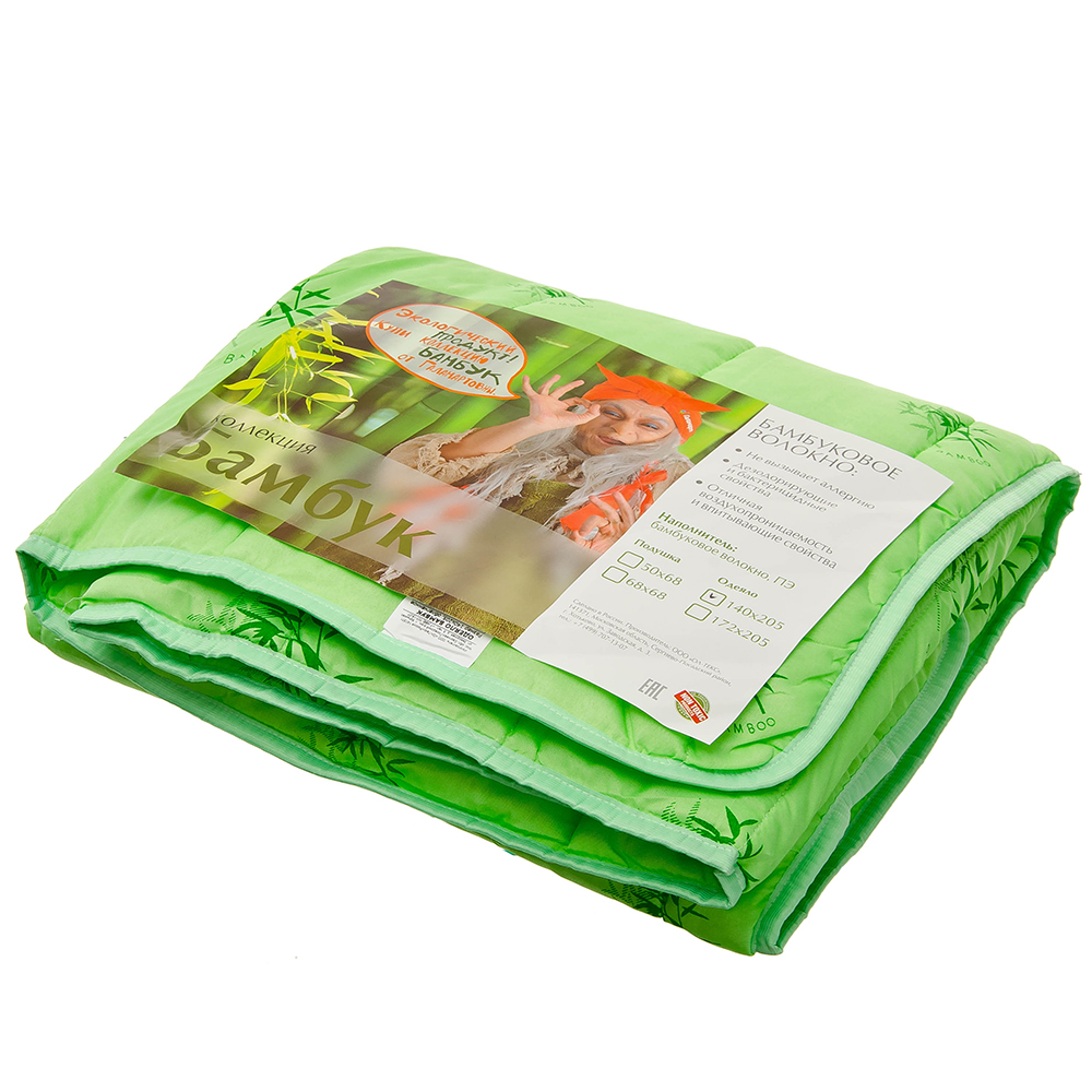 Одеяло облегченное бамбуковое, стеганое, 172х205см