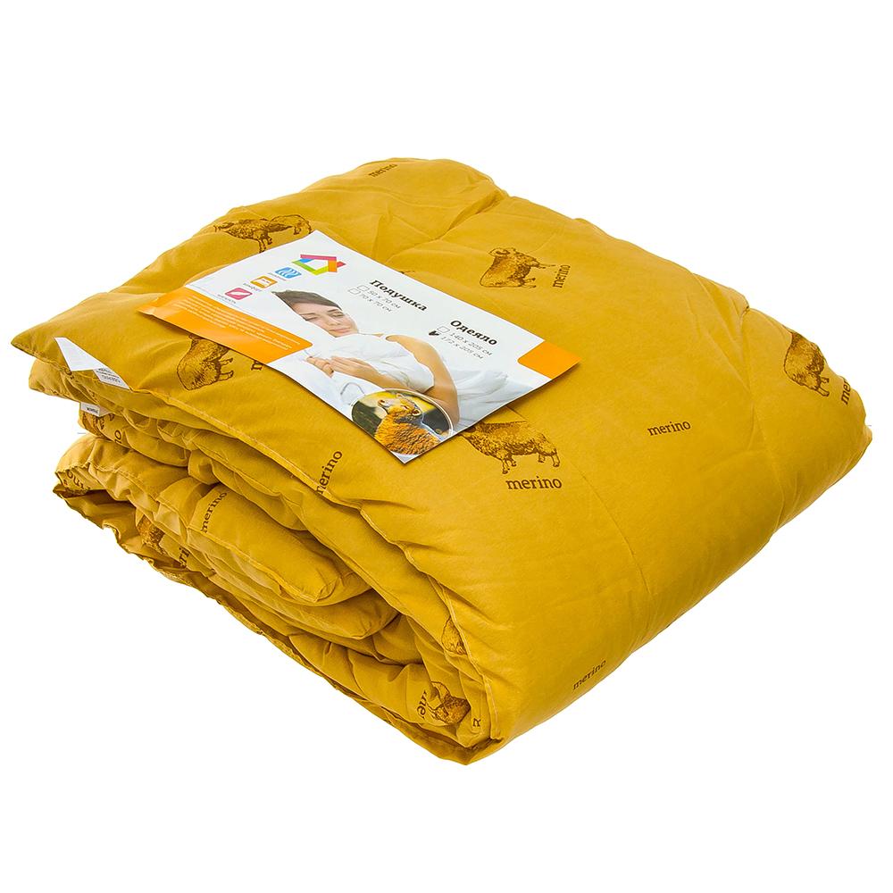 Одеяло Овечья шерсть, стеганое, утепленное, полиэстер, 140х205см, арт ГМ