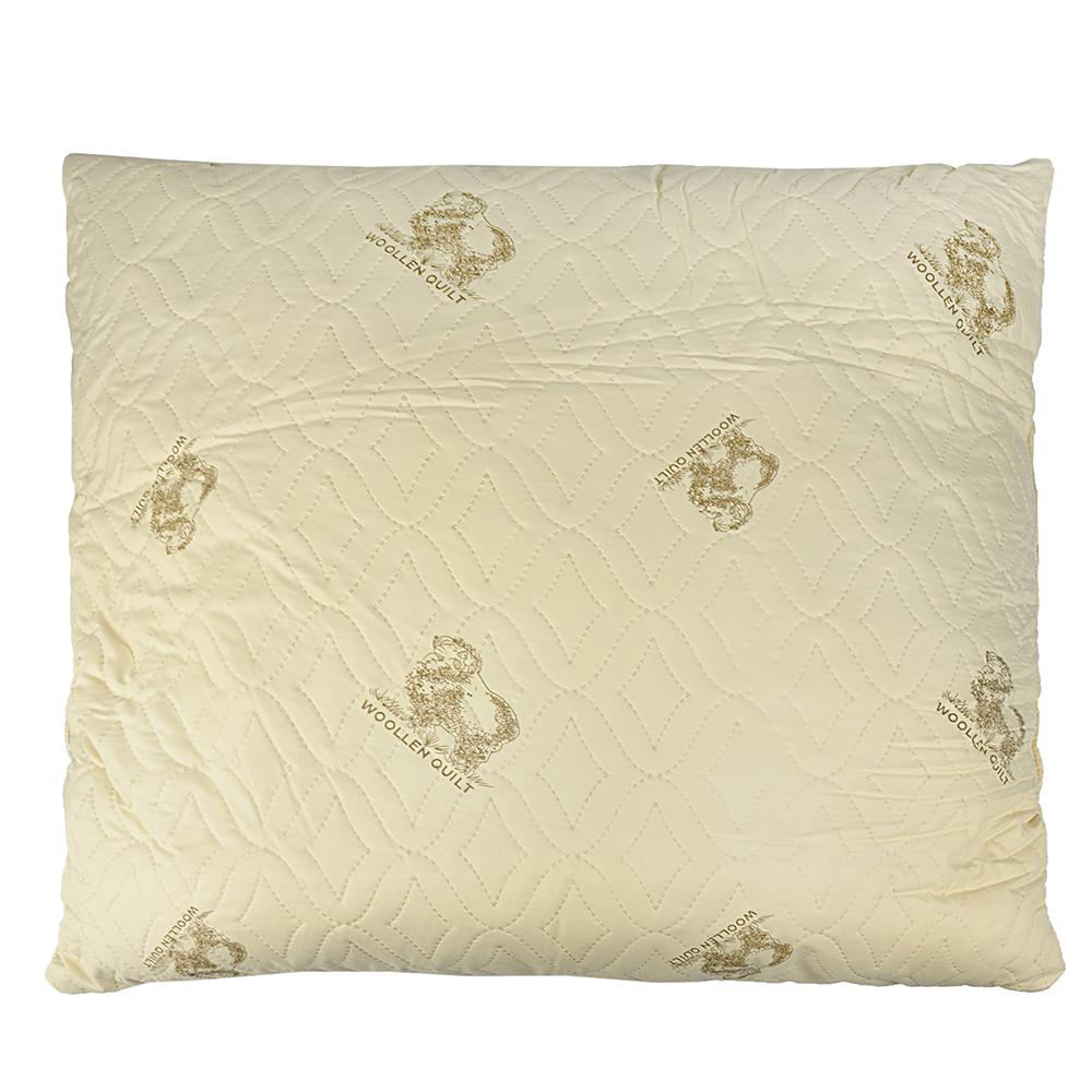 Подушка Овечья шерсть, полисатин, 70х70см, арт ГМ