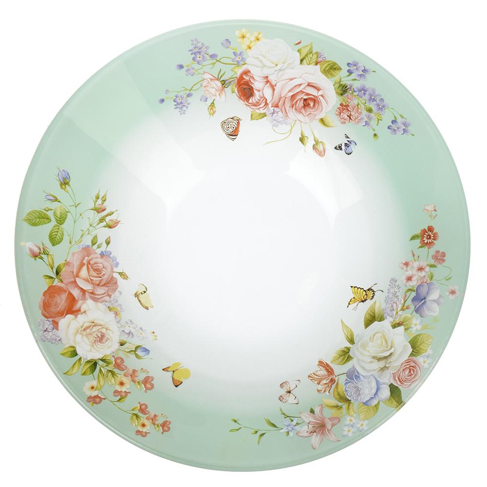 Нежное цветение Салатник стекло 228мм, S302009