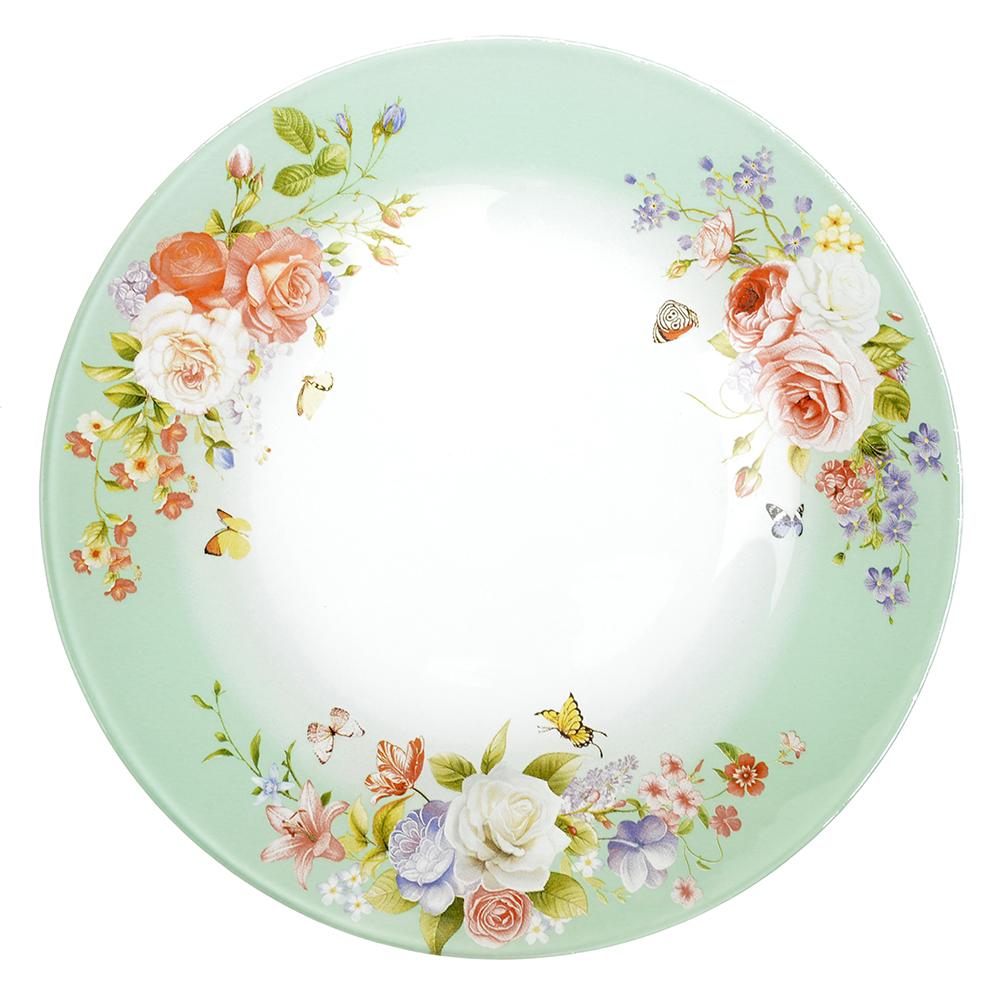 Нежное цветение Тарелка десертная стекло 200мм, S3008