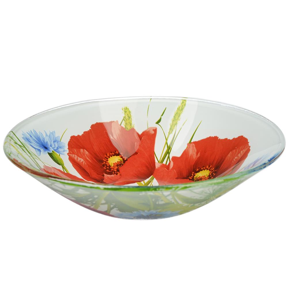 Маковое цветение Салатник стекло 152мм, S302006
