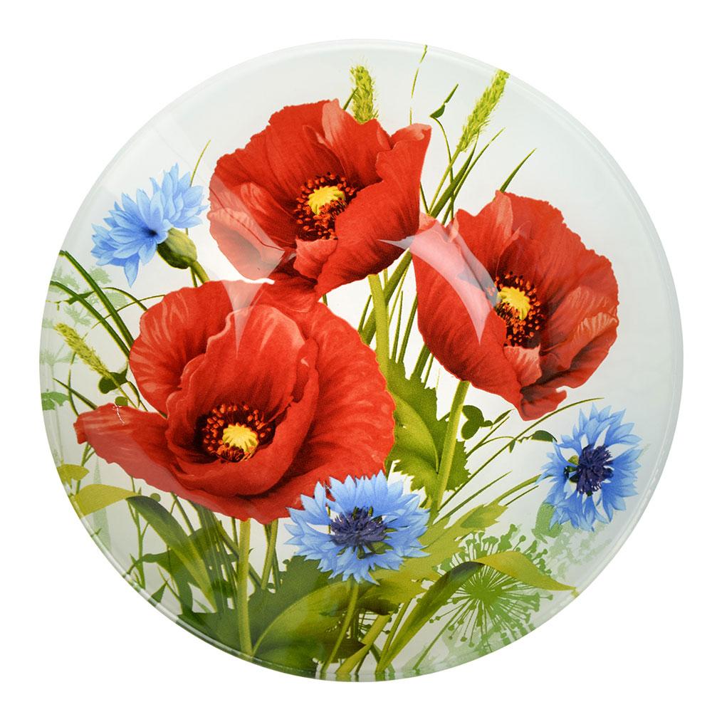 Маковое цветение Салатник стекло 178мм, S302007