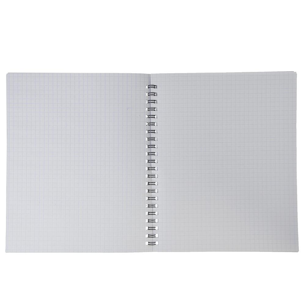 Тетрадь общая на спирали 48л. в клетку, офсет, обл.картон, лак, Т-04