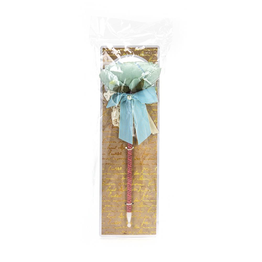 """LADECOR Ручка шариковая """"Пион"""", с бантом и жемчужинкой, с подвесом, 6 цветов"""