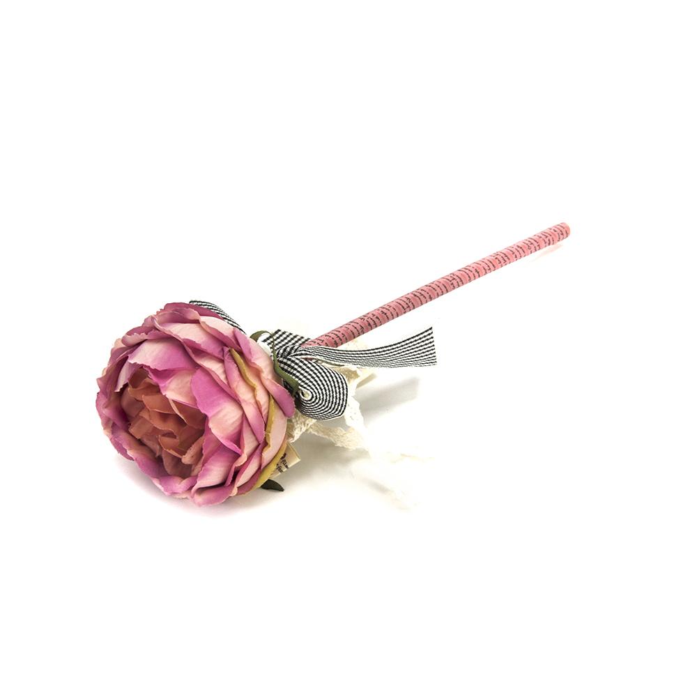 """Ручка шариковая """"Чайная роза"""", с бантом и жемчужинкой, 6 цветов LA DECOR"""