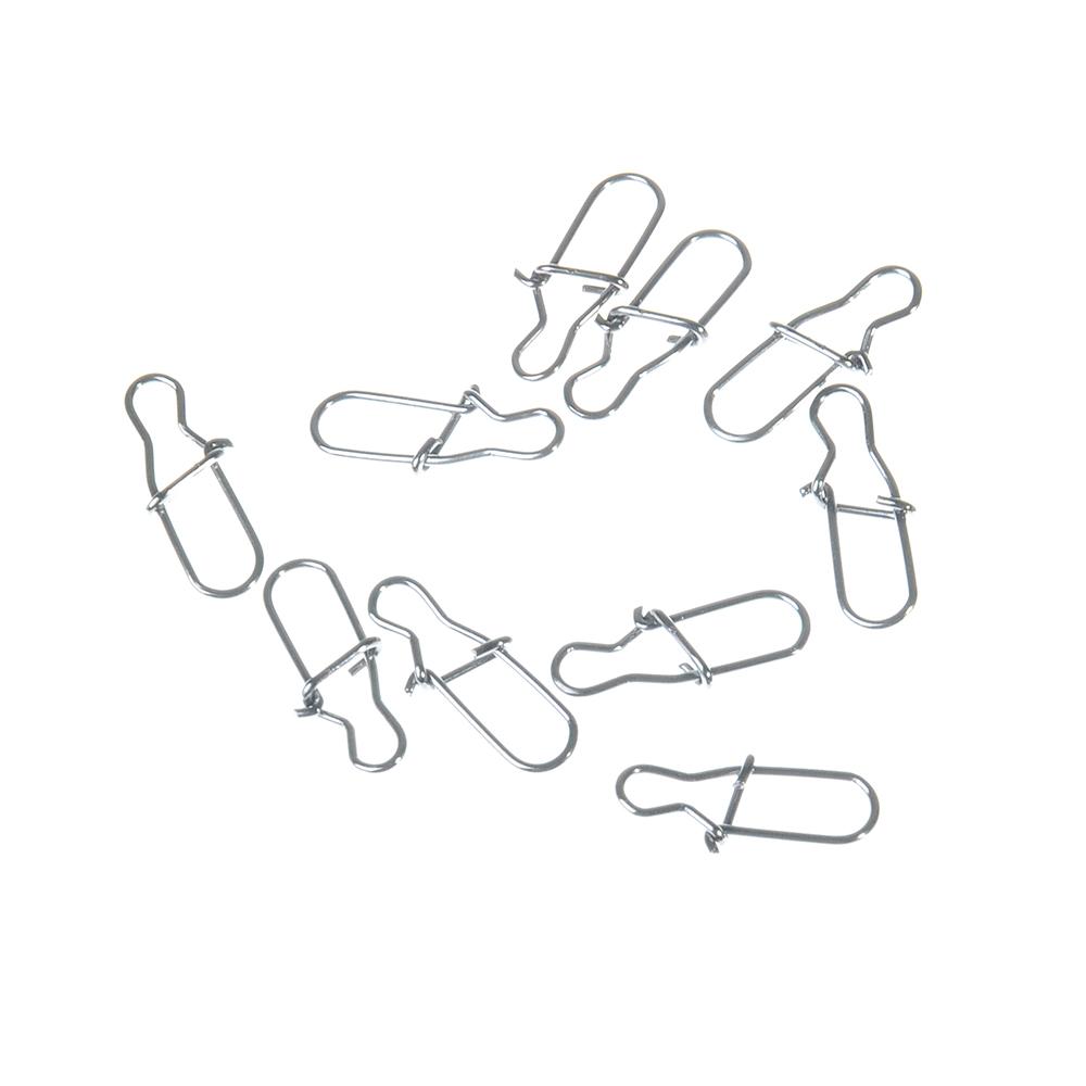 AZOR Набор карабинов-застежек, 10шт, №3, тест 18 кг, 1012