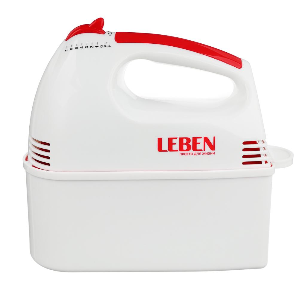 Миксер кухонный LEBEN 100Вт, 7 скоростей, 4 насадки с коробочкой