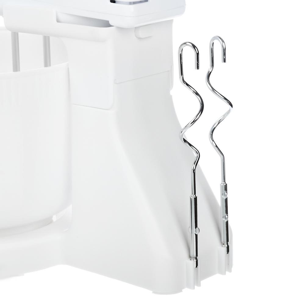 Миксер кухонный LEBEN 100 Вт, 7 скоростей, 4 насадки, чаша пластик 1,7 л