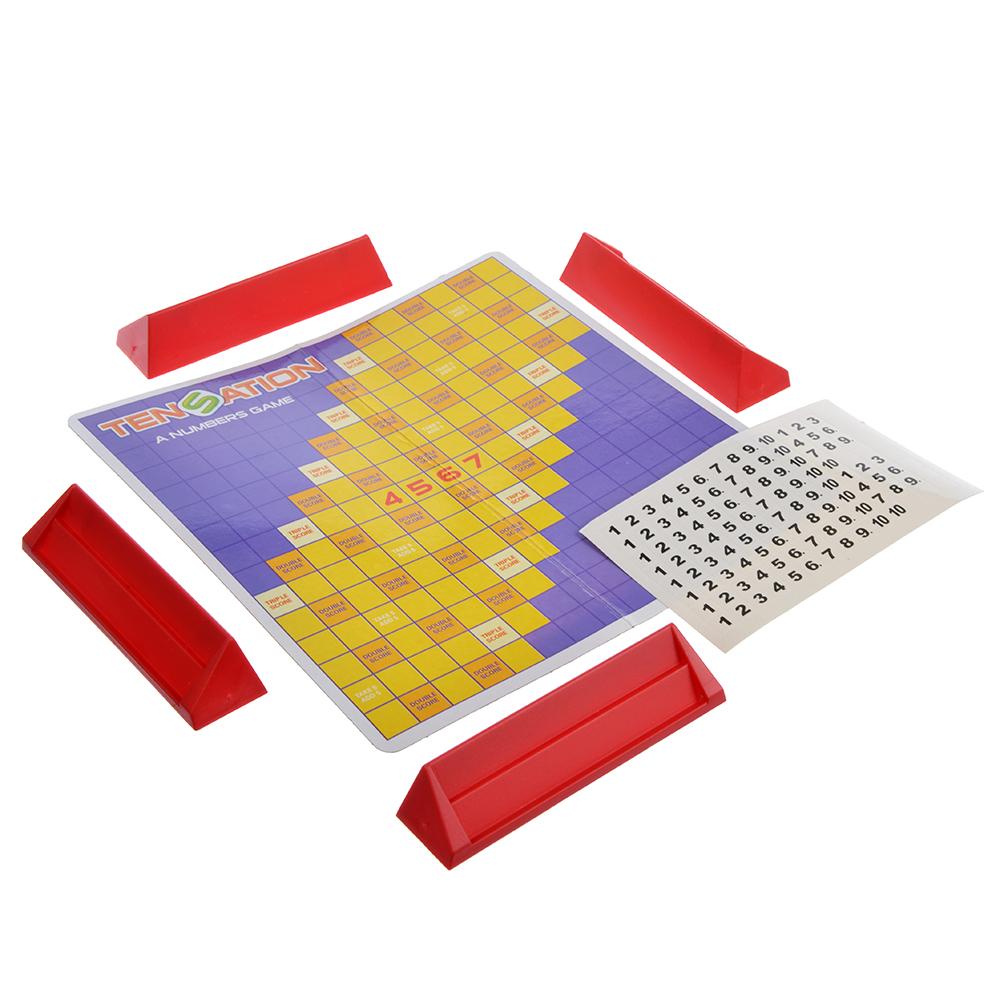 Настольная игра Логическая: Цифры/Собери фигуры, пластик,20х14,5х3,5см