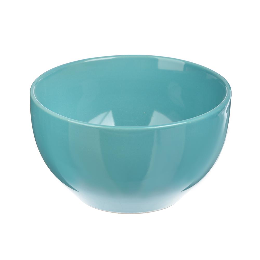 """Салатник керамический, 14 см, аквамарин, """"Глянец"""""""