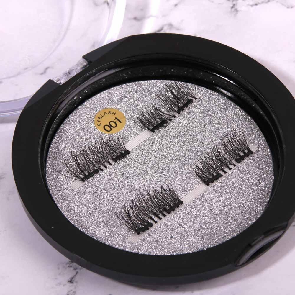 Накладные ресницы с 2-мя магнитами ЮниLook, цвет черный