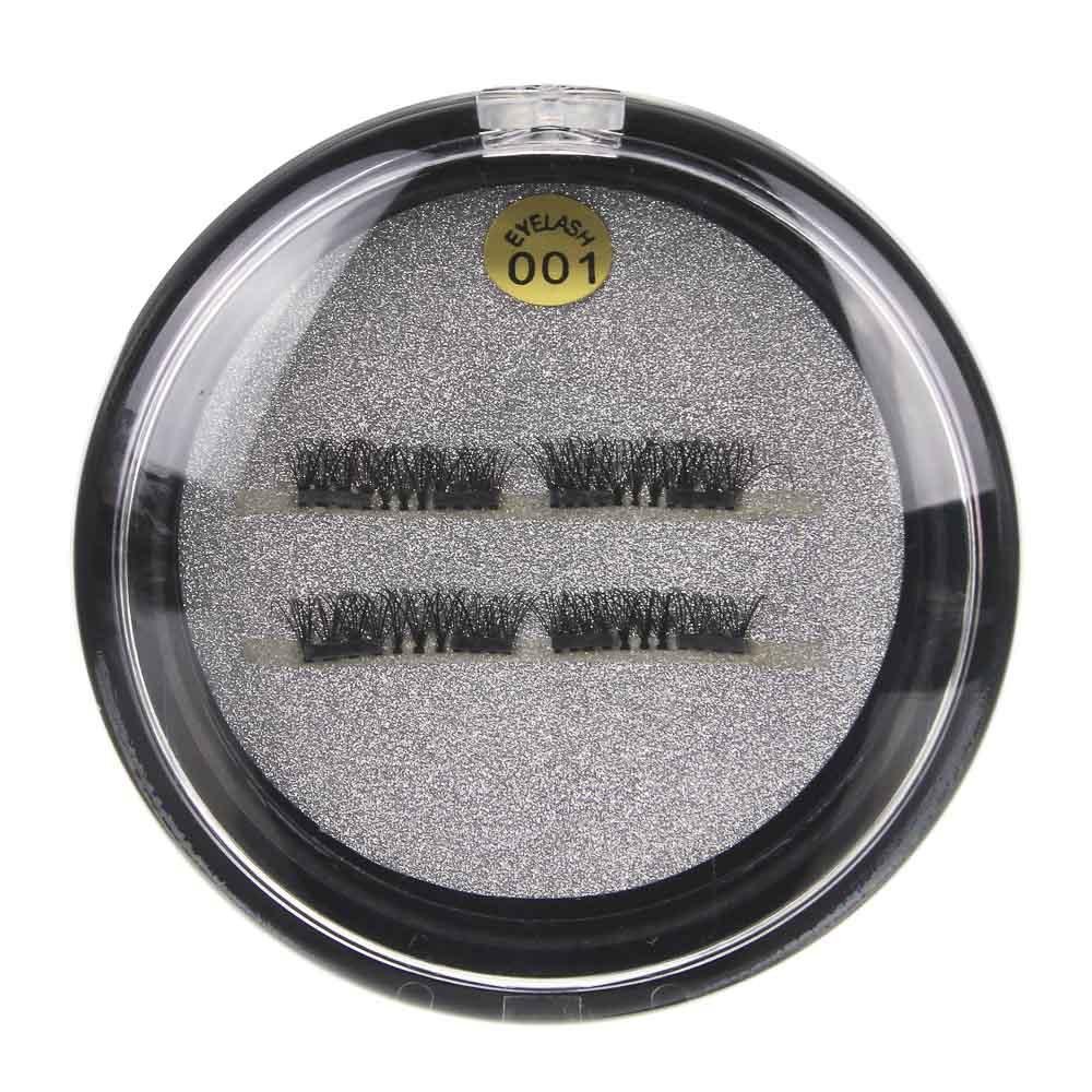 Накладные ресницы с 2-мя магнитами, цвет черный, #002