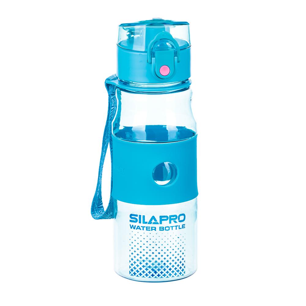 Шейкер для спортивного питания, 0,38 л, 18х6,5 см, пластмасса, 2 цвета, SILAPRO