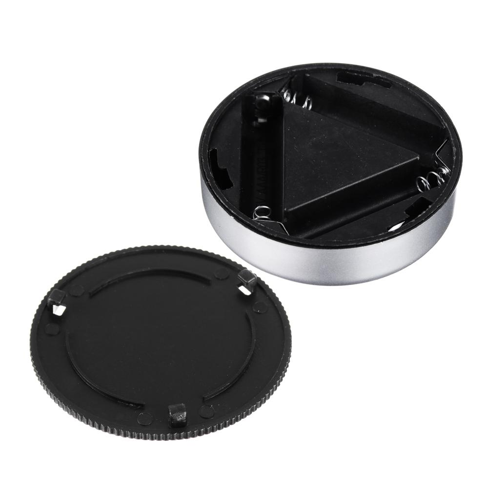 Светильник 4 LED точечный нажимной, d.6,5 см, 3xААА, пластик