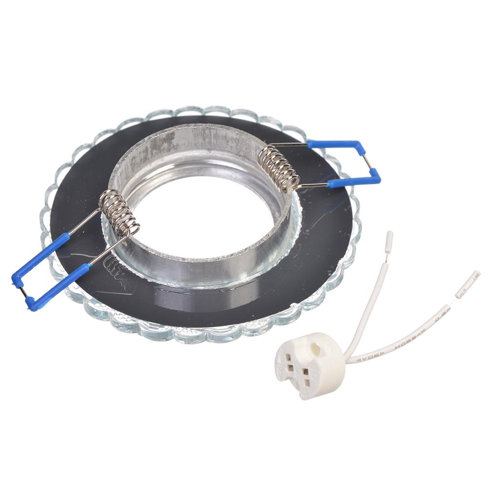 FORZA Светильник встраиваемый, № 21 лампа MR16, цоколь GU 5.3, стекло d90мм