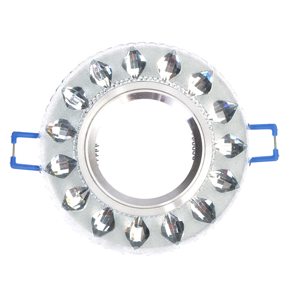 FORZA Светильник встраиваемый, № 24 лампа MR16, цоколь GU 5.3, стекло d90мм