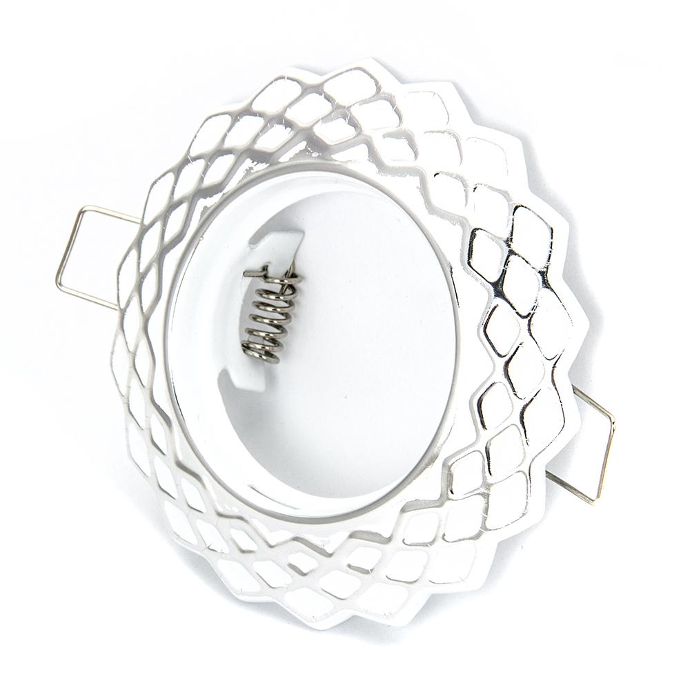 FORZA Светильник встраиваемый штампованный, № 29 лампа MR16, цоколь GU 5.3, d 90x22мм, железо
